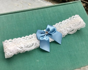Toss Garter - Lace Garter with Bow and Swarovski Crystal (Choose Your Colors)