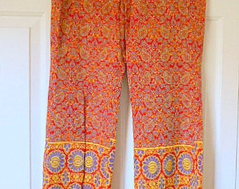 Vintage funky India paisley and flower Pants