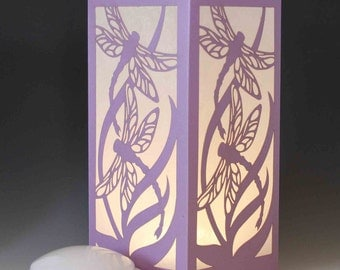 Dragonfly Laser Cut Luminary Table Lamp Centerpiece - #63