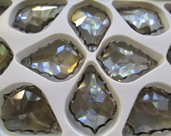 1 ~  SATIN 50mm Chandelier Crystal Prisms Asfour SATIN French Pendeloques Pendalogues Chandelier Prisms