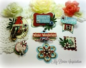 G45 Time to Flourish January Handmade Paper Embellishments for Scrapbooking Layouts Cards Mini Albums Tags Paper Crafts