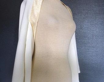 wedding ivory japanese kimono shrug M size
