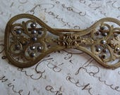 Beautiful large antique French gilded buckle c1880 BELLE COUTURE