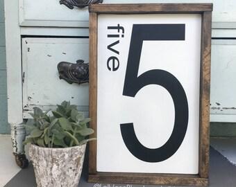 number sign home decor