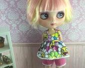 Blythe Play Suit or Pyjamas - Happy Flowers