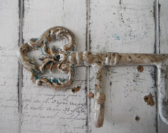 key hook cottage chic aged look french country antiqued hook wall hook distressed hook coat hook rustic wall decor leash hook scarf hook