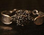 "Monogrammed ""M"" Floral Spoon Bracelet"