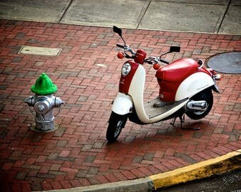 Photo of Scooter, Vespa Photograph, Travel Photography
