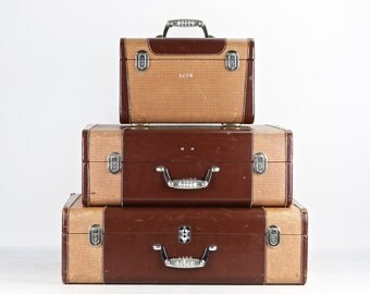Suitcases, Wheary Suitcases, Suitcase Stack, Stack Of Suitcase, Vintage Suitcases, Set Of Suitcases, Matching Luggage Set, Vintage Suitcase