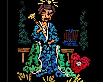 "The Empress Card -  11 x 14"" Tarot Card Poster Tarot Card Print Fortune Telling Occult Art Tarot Wall Art"