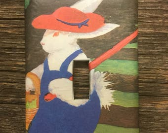 Runaway Bunny Upcycled / Recycled Light Switch Plate