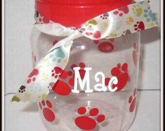 Personalized Pet Treat Jar  Personalized Dog Treat Jar Custom Dog treat jar Custom Pet Food Jar Pet Gift Dog Gift Dog Toy