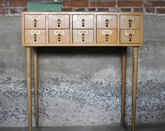 File Away..... Vintage Library Card Catalog, Dewey Decimal, Card File, Library File, Card Catalogue