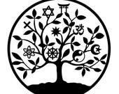 Universal religion tree of life sticker vinyl sticker tree of life tree of life decal