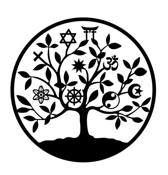 universal religion tree of life sticker vinyl sticker tree of. Black Bedroom Furniture Sets. Home Design Ideas
