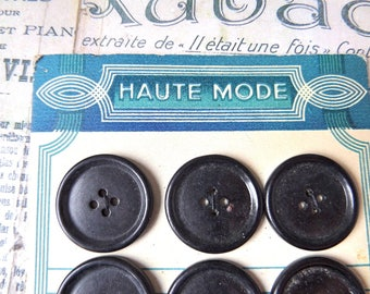 """French Antique  Buttons Store Cards """"HAUTE MODE""""  French chic"""