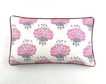 Katie Ridder Peony Pillows (shown in Raspberry-comes in 6 colors)