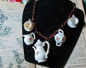 Time for a Tea Party Necklace