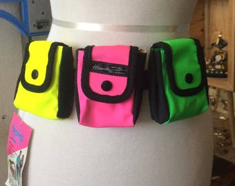 Vintage NOS Tropics Hawaii 1990s Victor Sports Fanny Pack Neon