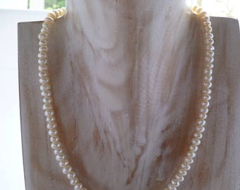 Ivory Freshwater Pearl Necklace UK made