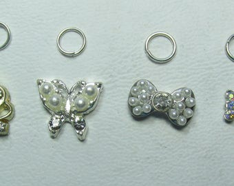 Nail Dangles: Crown, Butterfly and Two Bows Small 12A
