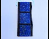 Lapis Lazuli,Obsidian Intarsia Gemstone Pendant Bead,Gemstone Bead,45x19x6mm,14.29g