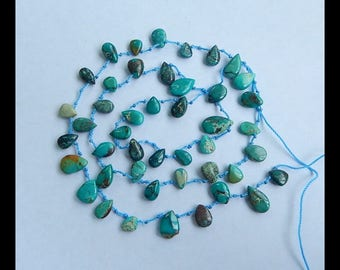 Turquoise Loose Beads,Necklace,1 Strand,54cm In the Lenght,13x8x4mm,8x6x3mm,16.6g(c0894)