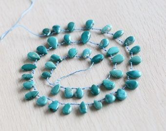 Fashion Natural Handmade oval  turquoise  Necklace  Gift Customized personalized gif 52.5cm length beads size 16*10*5mm 10*7*4mm 28g