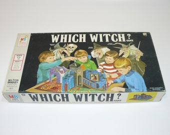 1971 WHICH WITCH Board Game by Milton Bradley Complete - Contents Good - Vintage Fun