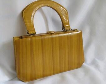1970s Susan Gail Original Designer Handbag Accordion Purse