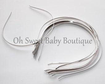 "Silver Metal Headband 4mm or 1/8"" *Clearance*"