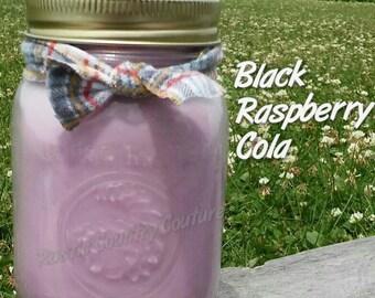 Black Raspberry Cola Soy Candle in 16 oz Jar