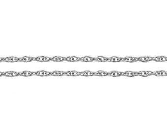 Chain, Rope, Sterling Silver, 1.2mm - 100ft Wholesale Price (11583-100)/1