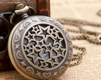 2pcs 47mm  Antiqued Bronze  Color  Pocket Watch Charm Pendant