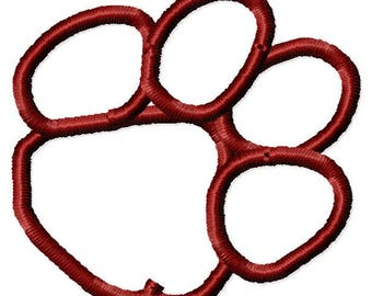 Instant Download Outlined Paw Angled embroidery design*NOT APPLIQUE*Handmade embroidery design Machine Embroidery Design Digital Design File