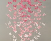 The Original Paper Lace Chandelier Monarch Butterfly Mobile - pink, nursery mobile, baby mobile, mobile, photo prop, 3D butterfly mobile