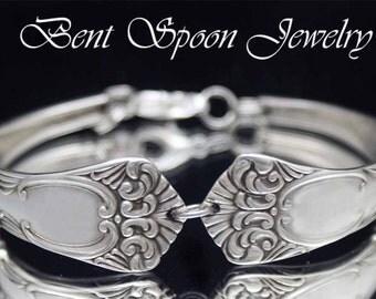 Silver Spoon Bracelet, Vintage Spoon Bracelet, Silverware Jewelry, Wedding Bracelet