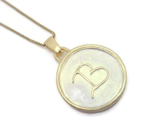 Delicate Initial Charm in Gold and Silver - personalized jewelry, letter necklace gift for her, 18k, custom pendant, letter jewelry