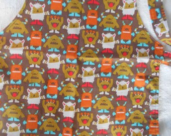 Where the Wild Things Are Inspired Apron - Monster Apron - Adjustable Apron - Reversible Apron - Child Apron - Ready to Ship