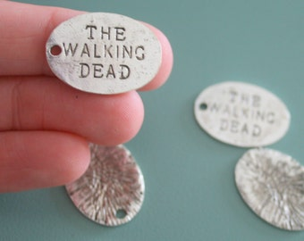The WALKING DEAD Charms...apocalypse. retro. kitsch. boho. urban. hipster. hippie. gift for her. zombie. tv show. vampire. punk. goth.