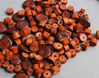 RESERVED for P... Lot of Vintage wood and coconut beads