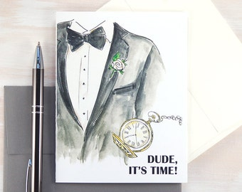 Will You Be My Groomsman Card, Asking Groomsmen, Usher, Personalized Wedding Card, Wedding Stationary, Best Man Proposal, Set of 1