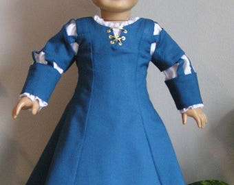 Scottish Princess Archery Dress with Muslin Chemise for 18 Inch or AG Doll