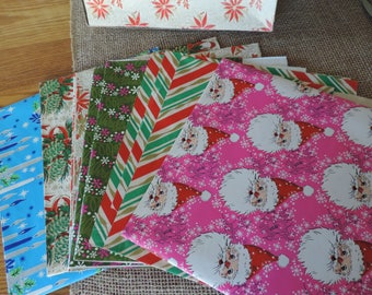 Vintage Christmas wrapping Paper Vintage Paper Santa Paper Holiday wrapping Paper Boxed Papers Christmas Paper
