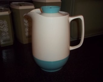 Beautiful Turquoise Insulated Ware Coffee Server  water pitcher Carafe, beautiful turquoise color!