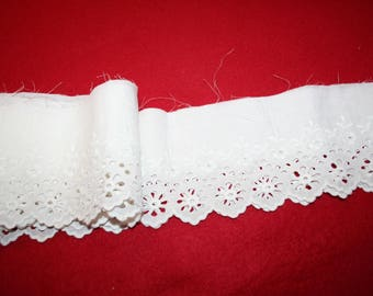 Vintage Embroidered Eyelet Edging- 64 Inches
