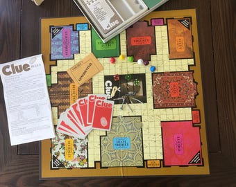 Vintage Complete Game of Clue 1972 Boardgame