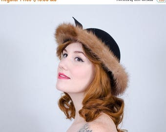 25% OFF SALE / 1960s vintage hat / wool bowler / Mr. John Jr.