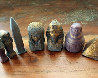 Egyptian Chess Soaps, 9 Piece Egypt Figurine Soaps, Chess soaps, Novelty Soaps, Custom Colored, Custom Scented, Vegetable Based