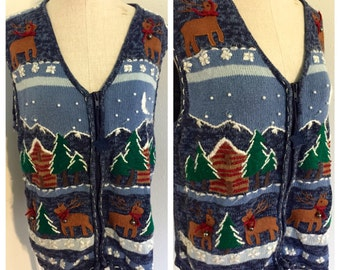 Ugly Christmas Sweater Vest, christmas vest, ugly christmas sweater, tacky christmas sweater, holiday sweater